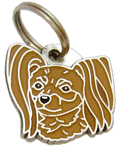 RUSSIAN TOY BROWN - pet ID tag, dog ID tags, pet tags, personalized pet tags MjavHov - engraved pet tags online